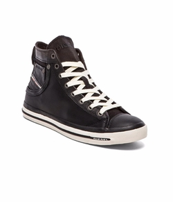 Magente Exposure I Leather Sneakers by Diesel in New Girl