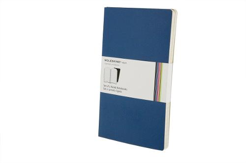 Antwerp Blue Volant Notebook by Moleskine in Fifty Shades of Grey