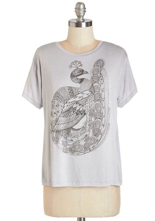 Flair-Feathered Friend Tee Shirt by Mod-Cloth in Thor