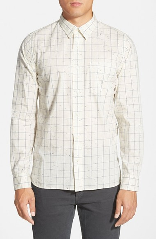 'Parrish' Trim Fit Windowpane Sport Shirt by Jack Spade in Modern Family
