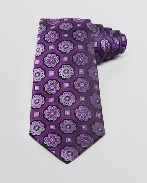 Medallions Classic Tie by Armani Collezioni in Elementary - Season 4 Episode 5