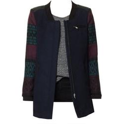 Jacquard Sleeves Coat by Zara in Arrow
