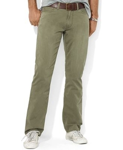 Flat Front Straight-Fit Chino Pants by Polo Ralph Lauren in Poltergeist