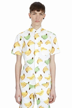 Banana Short-Sleeve Button-Down Shirt by Gitman Brothers For Opening Ceremony in Entourage