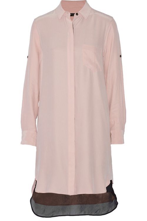 Crepe De Chine Shirt Dress by Rag & Bone in The Living Daylights