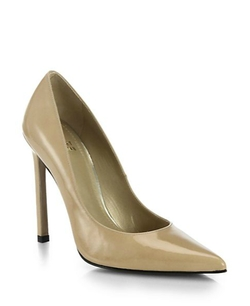 Queen Patent Leather Pumps by Stuart Weitzman in Suits