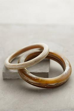 Slender Horn Bangle Set by Anthropologie in The Other Woman