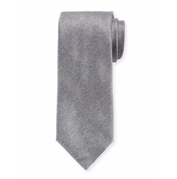 Solid Textured Silk Tie by Charvet in Power
