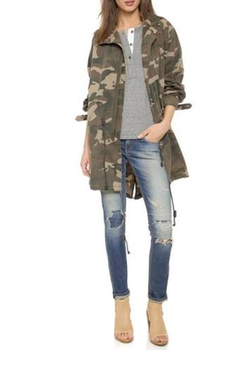 Oversized Camo Jacket by Capulet in Keeping Up With The Kardashians - Season 11 Episode 13