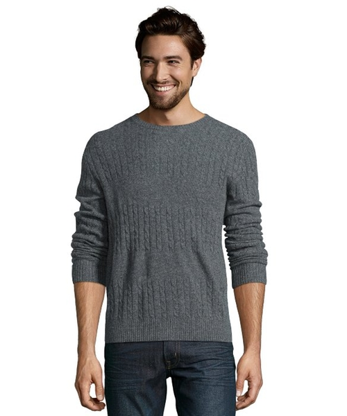 Derby Cashmere Broken Cable Knit Crewneck Sweater by Cullen in Wanted