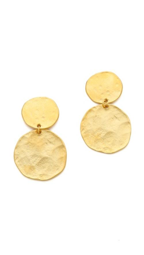 Two Tiered Hammered Earrings by Kenneth Jay Lane in St. Vincent