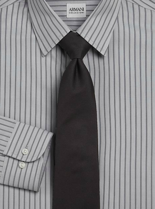 Slim-Fit Deco Striped Dress Shirt by Armani Collezioni in Sleeping with Other People