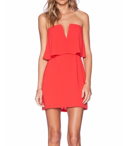 Kate Strapless Popover Dress by BCBGMAXAZRIA in Fuller House