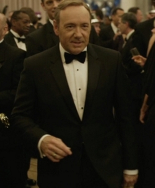 Custom Made Tuxedo Suit by Hugo Boss in House of Cards - Season 4 Episode 7