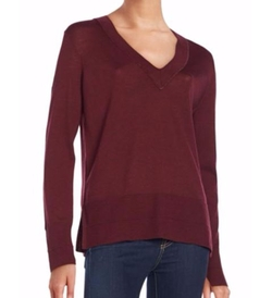 Leanna Seamed Merino Wool V-Neck Sweater by Rag & Bone/Jean in Pretty Little Liars