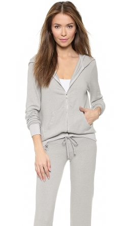 Beach Club Zip Up Hoodie by Wildfox in The Gift