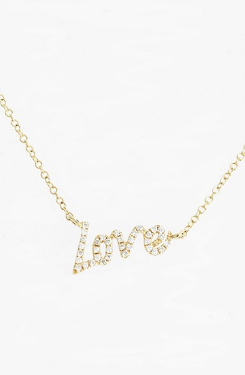 'Dazzling' Diamond Love Pendant Necklace by MeiraT in Bridesmaids