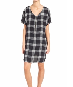 Buffalo Check Silk Zip Front Dress by Madewell in New Girl