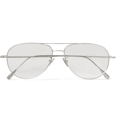 Palladium-Plated Aviator Optical Glasses by Cutler And Gross in Steve Jobs