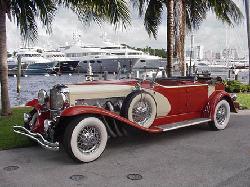 1929 SJ Lebaron Dual Cowl Phaeton Vintage Sport Car by Duesenberg in The Great Gatsby