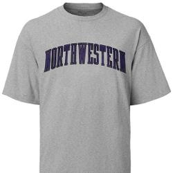 Wildcats Arched Grey T-Shirt by Northwestern University in Couple's Retreat