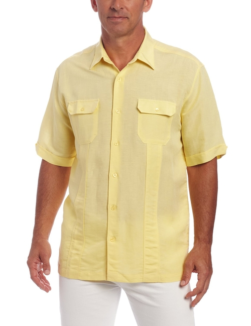 Men's Short Sleeve Two Pocket Shirt by Cubavera in The Big Lebowski