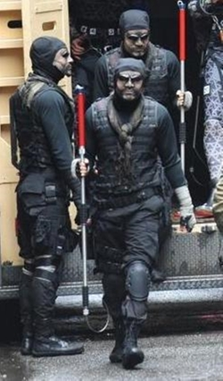 Custom Made Foot Soldier Outfit by Sarah Edwards (Costume Designer) in Teenage Mutant Ninja Turtles (2014)