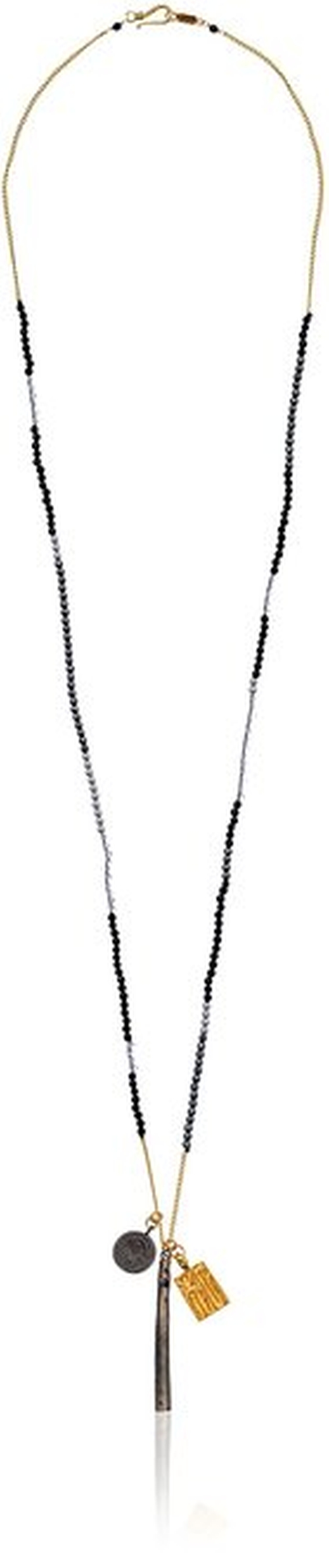 Onyx Mix Charm Pendant Necklace by Chan Luu in The Vampire Diaries - Season 7 Episode 5