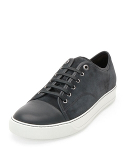 Matte Cap-Toe Low-Top Sneakers by Lanvin in Ballers