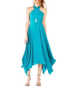 Crisscross Halter Neck Dress by BCBGMAXAZRIA in Mistresses