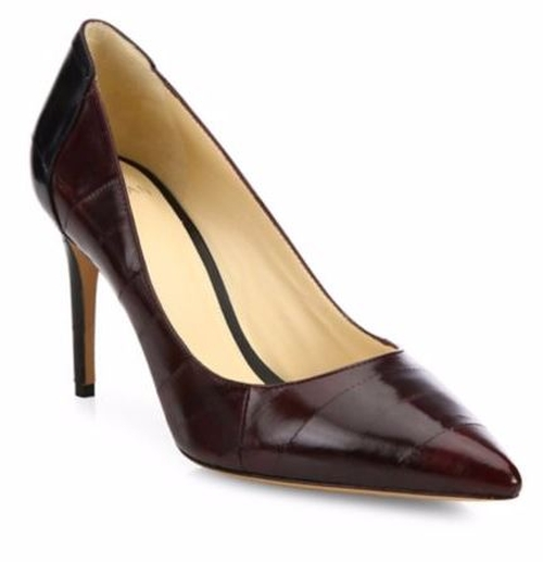Classic Bicolor Eel & Point-Toe Pumps by Alexandre Birman in Suits
