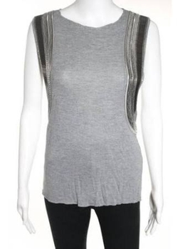 Grey and Black Muscle Tee by All Saints in Pitch Perfect 2