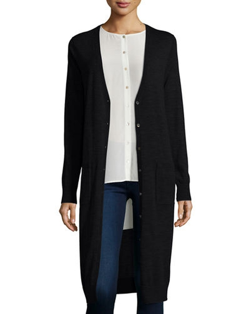Ultrafine Merino Long Cardigan by Eileen Fisher in Nashville - Season 4 Episode 10