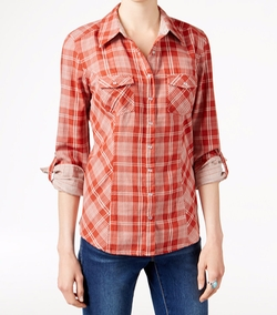 Plaid Button-Front Shirt by Style & Co. in Kong: Skull Island
