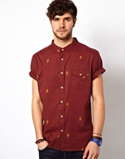 Short Sleeve Bolt Print Shirt by Critical Slide Society in The Flash
