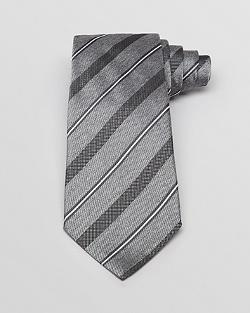 Woven Contrast Stripe Classic Tie by Armani Collezioni in The Hundred-Foot Journey
