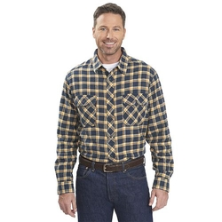 Miners Plaid Flannel Button-Down Shirt by Woolrich  in The Walking Dead
