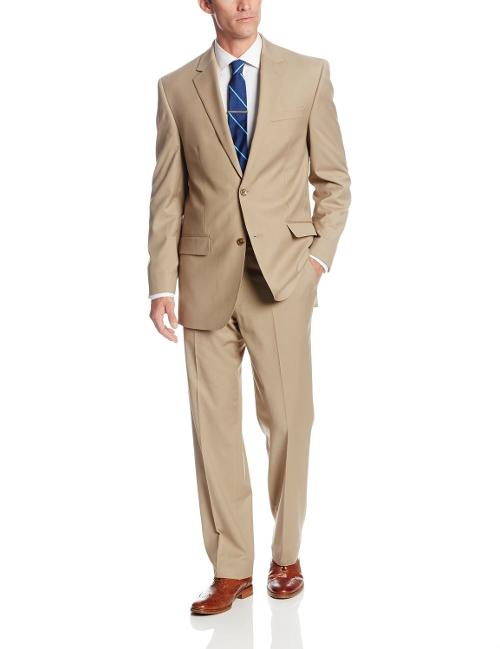 Men's Trent Solid Suit by Bill Blass in Into the Storm