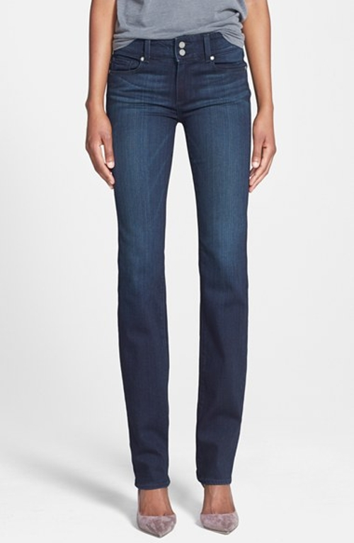 'Hidden Hills' High Rise Straight Leg Jeans by Paige Denim in Tomorrowland