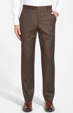 B Series Flat Front Wool Trousers by Hickey Freeman in The Blacklist