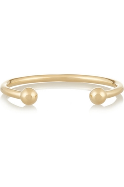Ball Gold-Plated Cuff Bracelet by Jennifer Fisher in Ballers