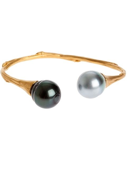 Pearl Edges Bangle Bracelet by Samira13 in Ballers - Season 1 Episode 4