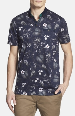 'Normat' Floral Print Polo by Ted Baker London in Paper Towns