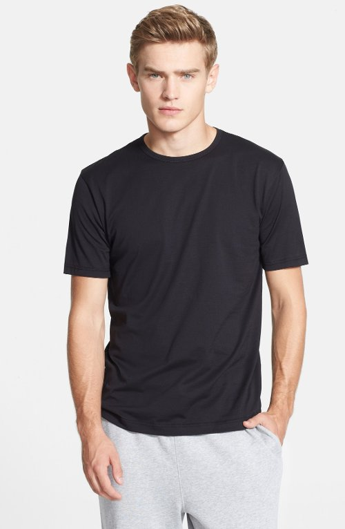Cotton Crewneck T-Shirt by Sunspel in Begin Again