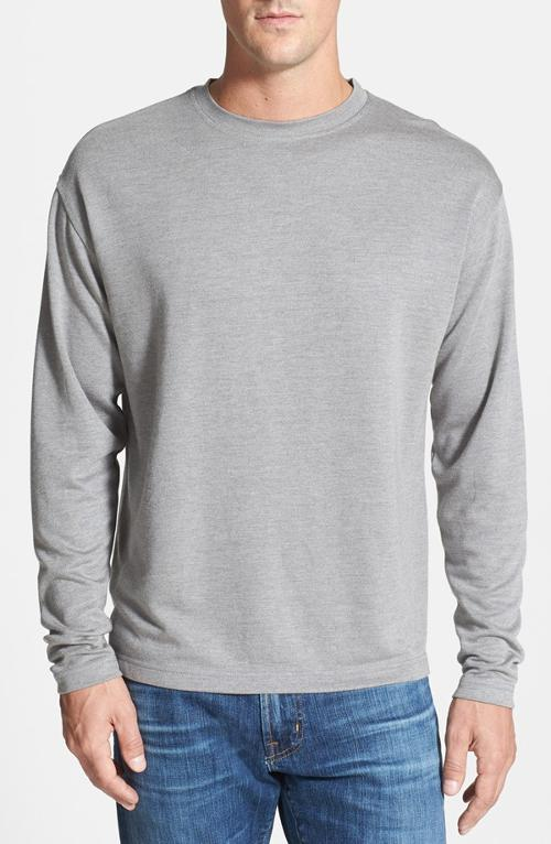 Regular Fit Long Sleeve Crewneck T-Shirt by Burma Bibas in Chronicle
