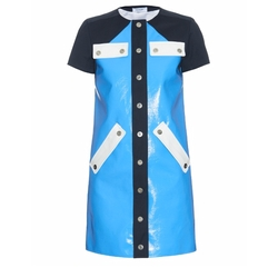 Contrast-Panel Button-Through Dress by Courrèges in Empire