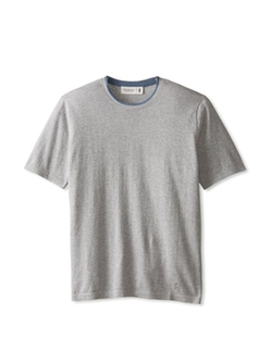 Contrast Crew Neck Knit T-Shirt by Pringle Of Scotland in Demolition