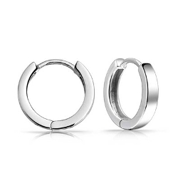 Sterling Silver Unisex Huggie Mini Hoop Earrings by Bling Jewelry in Ricki and the Flash