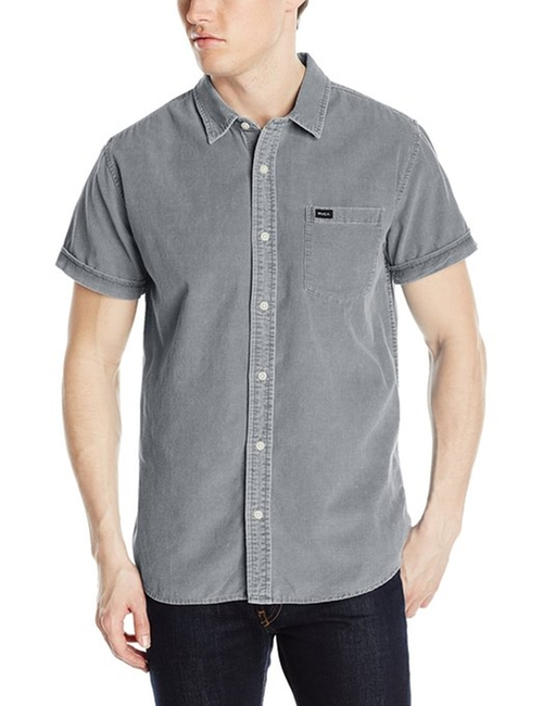 Men's Ripcord Short Sleeve Shirt by RVCA in Paper Towns
