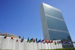 New York City, New York by United Nations Headquarters in Trainwreck